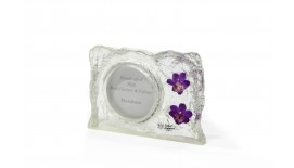 Orchid Photoframe Small Round