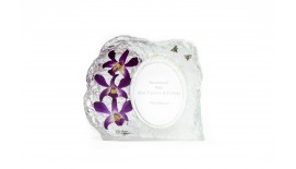 Orchid Photoframe Medium Oval
